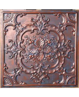 Faux Tin ceiling tiles Rustic copper color PL19 pack of 10pcs