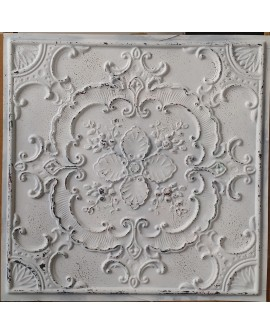 Ceiling tiles False Tin distressed crack white copper color PL19 pack of 10pcs