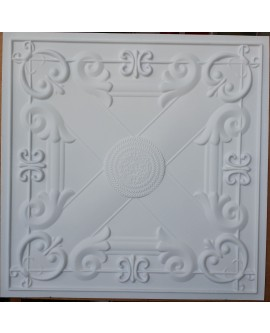 Faux Tin ceiling tiles white matt color PL22 pack of 10pcs