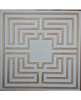 Faux Tin ceiling tiles white gold color PL25 pack of 10pcs