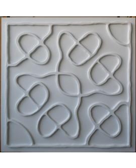 Faux Tin ceiling tiles white matt color PL28 pack of 10pcs