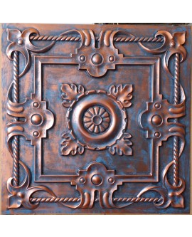 Tin ceiling tiles artistic rustic copper color coffee wall panel PL29 pack of 10pcs