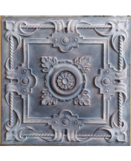 Tin ceiling tiles artistic old wood gray color cafe club wall panel PL29 pack of 10pcs
