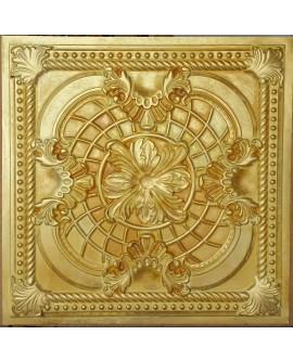 Plastic Ceiling tiles Faux Tin golden color PL31 pack of 10pc