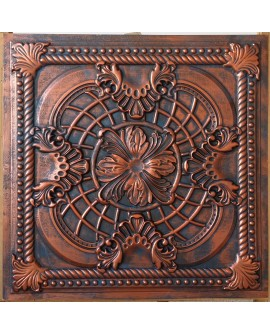 suspended Ceiling tiles Faux Tin rustic copper color PL31 pack of 10pc
