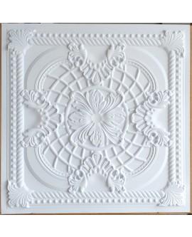 suspended Ceiling tiles Faux Tin white matt color PL31 pack of 10pc