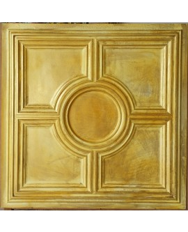 Metallized Ceiling tiles Faux Tin golden color PL37 pack of 10pc