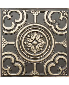Faux Tin ceiling tiles classic aged brass color PL50 pack of 10pcs