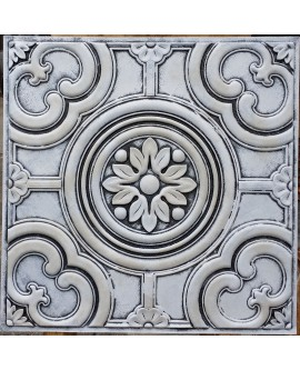Faux Tin ceiling tiles weathered white PL50 pack of 10pcs