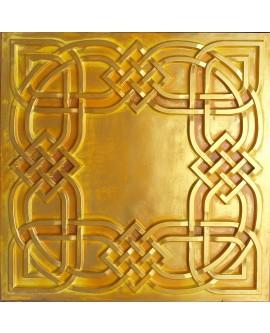 Ceiling tiles Faux tin golden color PL61 10pcs/lot