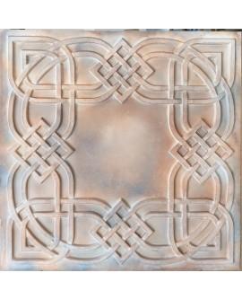 Plastic Ceiling tiles Faux tin washed brown color PL61 10pcs/lot