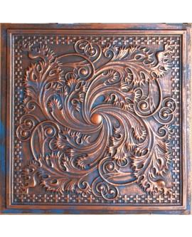 2x2 Ceiling tiles Faux Tin rustic copper color PL62 10pcs/lot