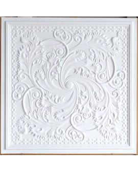 Drop in Ceiling tiles Faux Tin white matt color PL62 pack of 10pcs