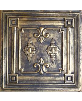 Drop in Ceiling tiles Faux Tin ancient gold color PL63 pack of 10pcs
