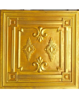 PVC Ceiling tiles Faux tin golden color PL63 10pcs/lot