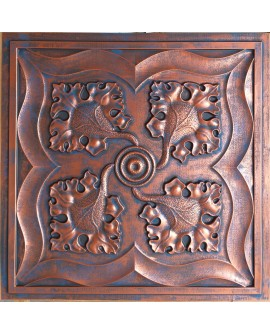 2x2 Ceiling tiles Faux Tin rustic copper color PL64 10pcs/lot