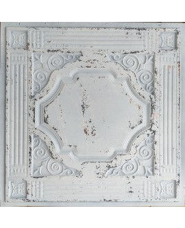 Ceiling tiles Faux tin distressed crack white black color PL65 10pcs/lot