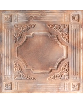 Plastic Ceiling tiles Faux tin washed brown color PL65 10pcs/lot