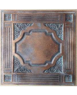 Ceiling tiles Faux vintage painted weathering copper color PL65 10pc/lot