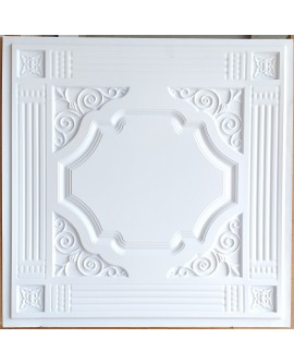Drop in Ceiling tiles Faux Tin white matt color PL65 pack of 10pcs