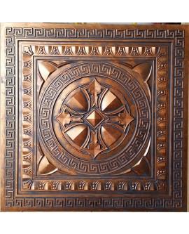 Faux Tin ceiling tiles archaic copper color PL01 pack of 10pcs