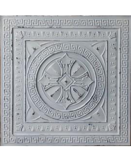 Ceiling tiles False Tin distressed crack white black color PL01 pack of 10pcs