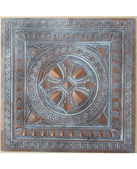 Ceiling tiles Faux Tin painted weathering copper color PL01 pack of 10pc