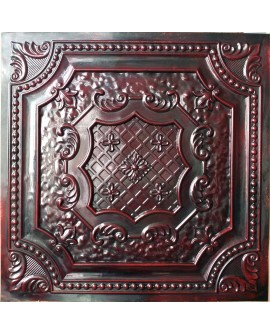 Faux Tin ceiling tiles aged red wood color PL04 pack of 10pcs
