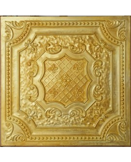 Glue on Ceiling tiles Faux Tin golden color PL04 pack of 10pc