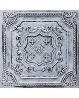 Faux Tin ceiling tiles weathering black white color PL04 pack of 10pcs
