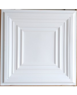 Faux Tin ceiling tiles white matt color PL05 pack of 10pcs
