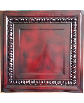 Faux Tin ceiling tiles aged red wood color PL06 pack of 10pcs