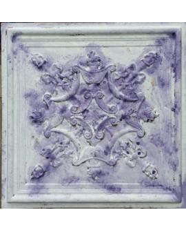 Faux Tin ceiling tiles distress white purple color PL07 pack of 10pcs
