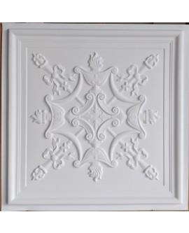 Faux Tin ceiling tiles white matt color PL07 pack of 10pcs