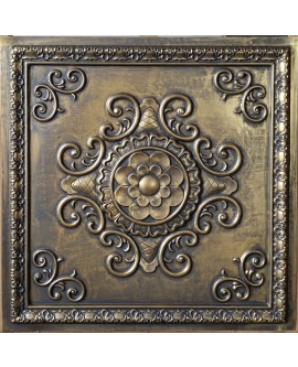 Faux Tin ceiling tiles ancient gold color PL08 pack of 10pcs
