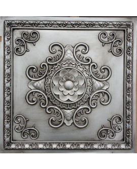 Faux Tin ceiling tiles antique silver color PL08 pack of 10pcs