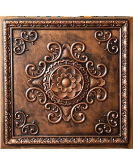 Faux Tin ceiling tiles archaic coppery color PL08 pack of 10pcs