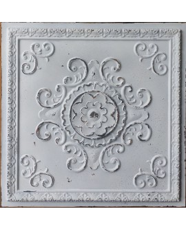 Ceiling tiles Faux Tin distress crack white black color PL08 pack of 10pcs