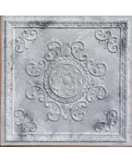 Faux Tin ceiling tiles white matt color PL08 pack of 10pcs