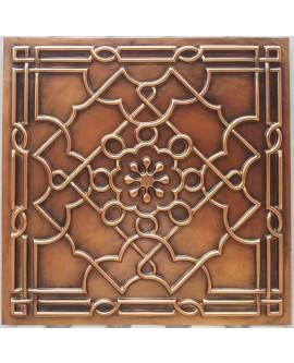 Faux Tin ceiling tiles antique copper color PL09 pack of 10pcs