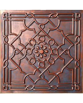 Faux Tin ceiling tiles Rustic copper color PL09 pack of 10pcs