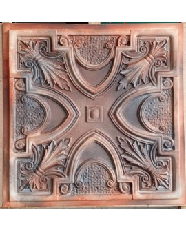 Faux Tin ceiling tiles Aged washing brown color PL11 pack of 10pcs