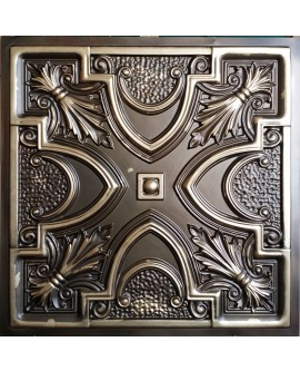 Faux Tin ceiling tiles classic aged brass color PL11 pack of 10pcs