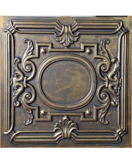 Faux Tin ceiling tiles ancient gold color PL15 pack of 10pcs