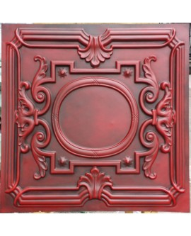Faux Tin ceiling tiles Antique red color PL15 pack of 10pcs
