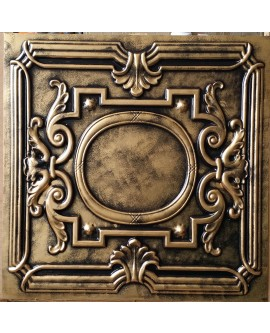 Faux Tin ceiling tiles archaic coppery color PL15 pack of 10pcs