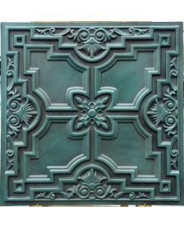 Faux Tin ceiling tiles antique cyan PL16 pack of 10pcs