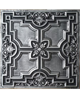 Tin ceiling design in antique tin color Faux painted PL16 pack of 10pcs