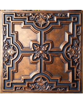 Faux Tin ceiling tiles archaic copper color PL16 pack of 10pcs
