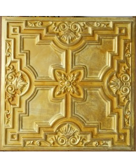 Drop in Ceiling tiles Faux Tin golden color PL16 pack of 10pc